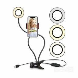Iluminador Circular LED Ring Light Live Streaming para celular