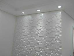 Gesso 3d decorativo instalado