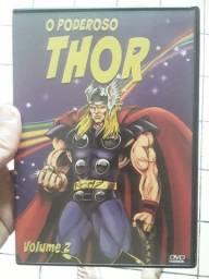DVD desenho animação Thor Marvel seminovo Original