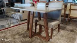 Título do anúncio: Mesa de jantar na madeira maciça pronta entrega