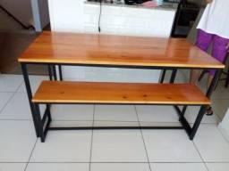 Título do anúncio: Mesa de madeira e metal