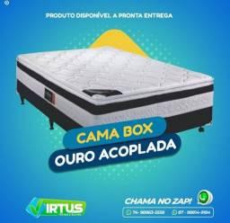 CAMA BOX CASAL MASTER C/PILLOW TOP<br><br>