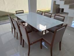 Título do anúncio: Mesa espaçosa e aconchegante de jantar madeira e acabamento laka