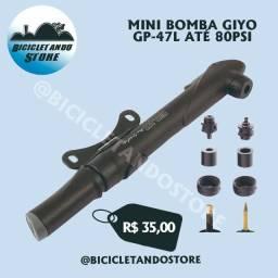 Mini Bomba para Bike 80Psi Giyo Air Supply GP-47L
