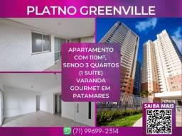 Título do anúncio: Platno Greenville, 3 quartos em 110m² com 2 vagas de garagem em Armação - Surreal