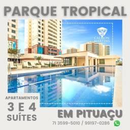 Título do anúncio: Apartamentos em Patamares com 4 suítes em 155m², 3 vagas, vista mar