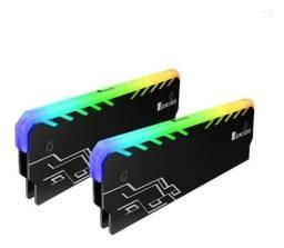 Título do anúncio: Kit Com 2 Unidades de Dissipadores de Memoria Ram Jonsbo RGB (NOVO) (Preto)