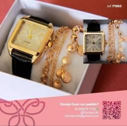 Modelos exclusivos de relógios e pulseiras.