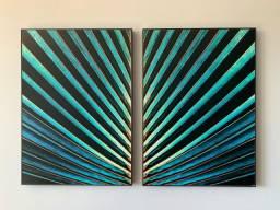 Título do anúncio: Dupla de quadros Thecore - 50cm x 70cm