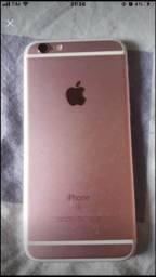 Vendo ou troco: iPhone 6 s funcionando normal (vidro da tela quebrado )
