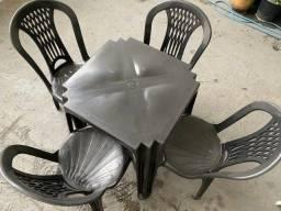 Título do anúncio: Queima de estoque no atacado jogo mesa novo cor preta