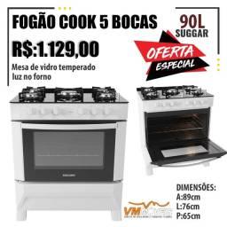 Título do anúncio: Fogão Cook 5 BCS Promoção Só Hoje Entregamos e Parcelamos no Cartão