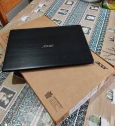 Note Acer --- Apenas 10 Meses De Uso --- Cor Black Escovado