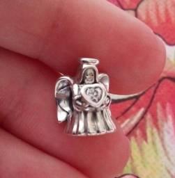 Título do anúncio: Pandora novíssimo e com certificado berloque anjinho do amor em prata 925