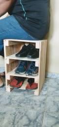 Banco organizador de sapatos