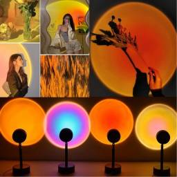 Projetor para fotos Sunset Rainbow  Night Lights Usb