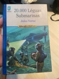 livro 20.000 léguas submarinas, adaptado e ilustrado