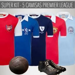 Queima de Estoque - Kit 5 Camisas Retrô times Inglaterra b0debcf8fe348