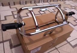 Protetor Motor Mata Cachorro Intruder 125 Com Apoio Pedal