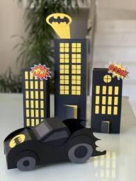 Linda decoração de papel tema Batman