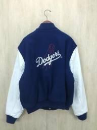 Jaqueta College hip hop rap gangsta Los angeles Dodgers importada tamanho L manga em couro