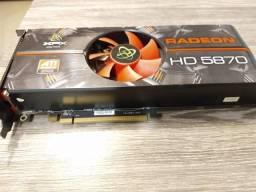Placa de vídeo AMD-XFX-HD5870-1GB ddr5-256 bit