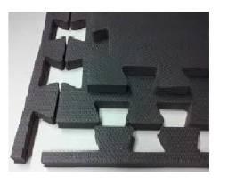 Tatame - 16 placas em EVA, Preto, de 1m² e 30mm - Jiu Jitsu, MMA, Artes Marciais, Itabira