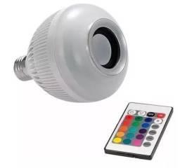 (NOVO)Lampada Musical De Led Bulbo Bluetooth Rgb + Controle Remoto comprar usado  Brasilia