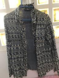 linda jaqueta feminina usada 2 vezes com detalhes