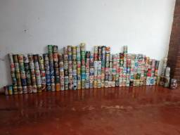 Coleção de latas