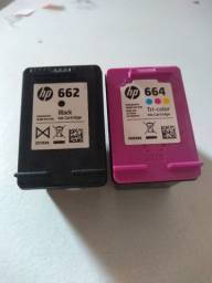 Cartuchos HP 662 e 664 preto e colorido