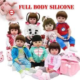 Bebê Reborn corpo inteiro de silicone