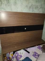 Painel de madeira para televisão e rack