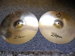 Hi hat s TOP de linha Zildjian / Sabian + estante completa!