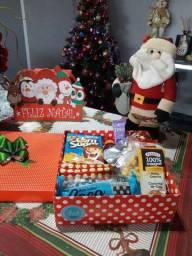 Café na caixa e Cestas Natalinas (lembrancinha de Natal)