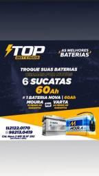 Bateria Moura 60 troca por sucatas