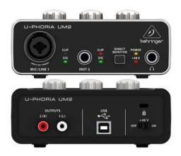 Título do anúncio: Interface de áudio Behringer U-phoria UM2 USB