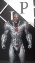 Boneco Colecionável Ciborgue (Cyborg) Liga da Justiça