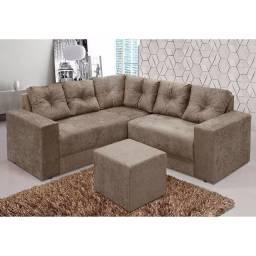 Lindo Sofa de Canto com Puff
