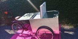 Foodbike para venda de alimentos ou outros + ombrelone