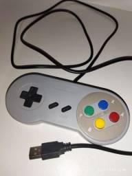 Título do anúncio: Controle super Nintendo Snes USB  emulador
