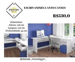 Título do anúncio: Destak Móveis- Escrivaninha branca de canto