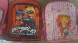 Vendo lote mochilas infantil de menino e meninas
