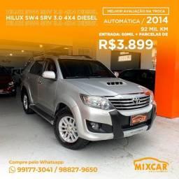 Título do anúncio: Hilux SW4 SRV 3.0 4X4 Diesel AUT. 2014! Impecável!