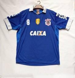 Título do anúncio: Brechó - Camisa Do Corinthians Azul. Timão N 9 Tamanho M