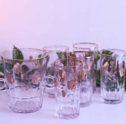 Título do anúncio: Antigo conjunto de balde de gelo e copos em cristal