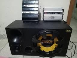 Caixa de som + módulo 600 digital+ módulo T400