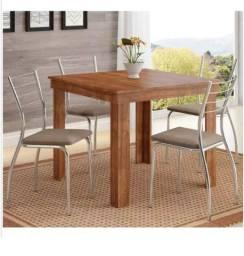 Título do anúncio: Mesa com 4 cadeiras - Compre hoje e receba amanhã
