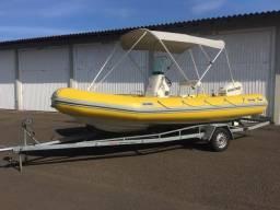 Título do anúncio: Barco Inflável 5,5 m Nautifkex com Evinrud 115 HP