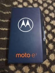Título do anúncio: Moto e7 novo na Caixa